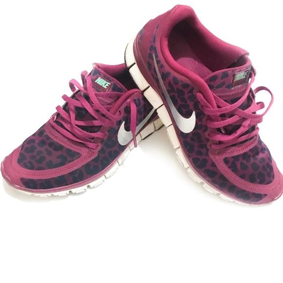 6b4b0278dc35 Nike Shoes - RARE nike free 5.0 v4 leopard raspberry silver